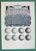 ADVERTISEMENT for Aerograph Lithography Printing - 1901 Litho Print - $6.42