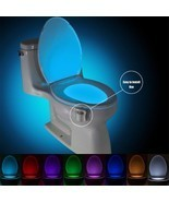 Smart PIR Motion Sensor Toilet Seat Night Light 8 Colors Waterproof Back... - ₹412.26 INR