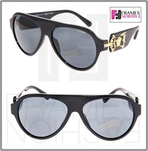 Versace Rock Icon Medusa 4323 Shiny Black Gold Polarized VE4323 Sunglasses - $207.90