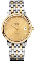 Omega De Ville Prestige Champagne Dial Stainless Steel and 18kt Gold Mens Watch - $7,880.00