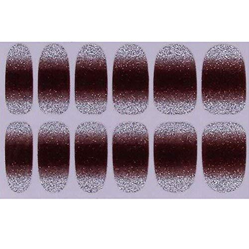 Primary image for Set of 6 Stylish Bright Gradient Glittery Nail Art Stickers, Brown