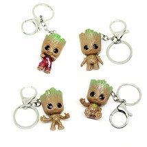 VNFLY Nidavellir 4 Pcs Baby Groot Keychain Groot Key Ring - $12.76