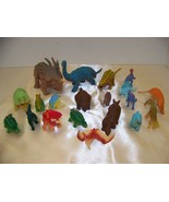 Lot#2 of 20 Plastic Dinosaur toys various sizes  - $8.32