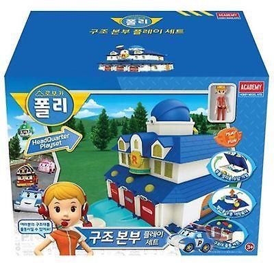 Robocar Poli  Rescue Center Station Play Set  Headquarter Track Toy Kid Gift