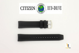 Citizen Eco-Drive BN0190-07E Black Rubber Watch Band Strap 59-S53772 - $74.95