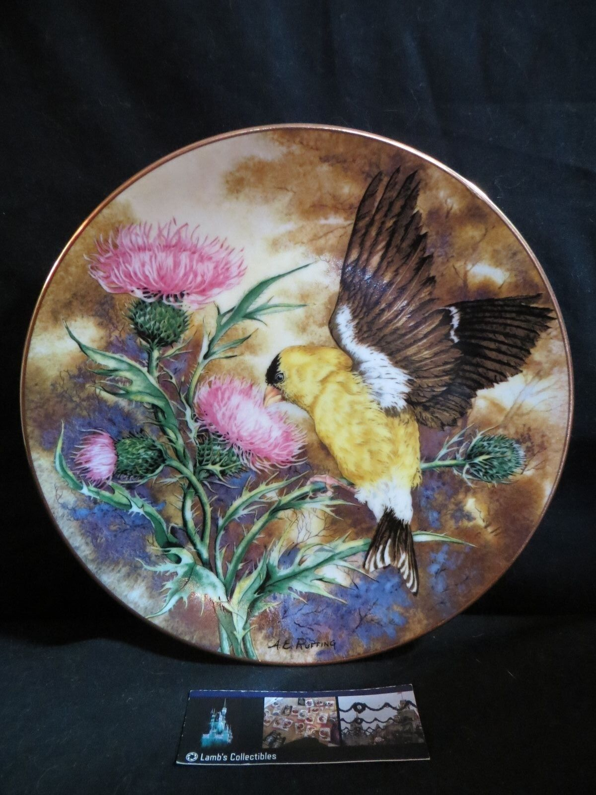 Primary image for Songbirds of South American Goldfinch AE Ruffing Royal Windsor Bird LE Plate