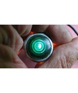 VINTAGE DASH INSTRUMENT LIGHT HOT ROD SCTA MILITARY ROBOT EYES LAMP GREE... - $15.44