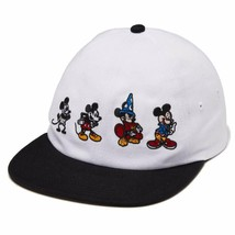 Vans x Disney Through The Ages Strapback hat Mickey Mouse baseball new nwt white - $25.71