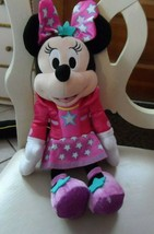 "Disney Minnie Mouse plush dressed in pink with stars 13"" - $9.50"
