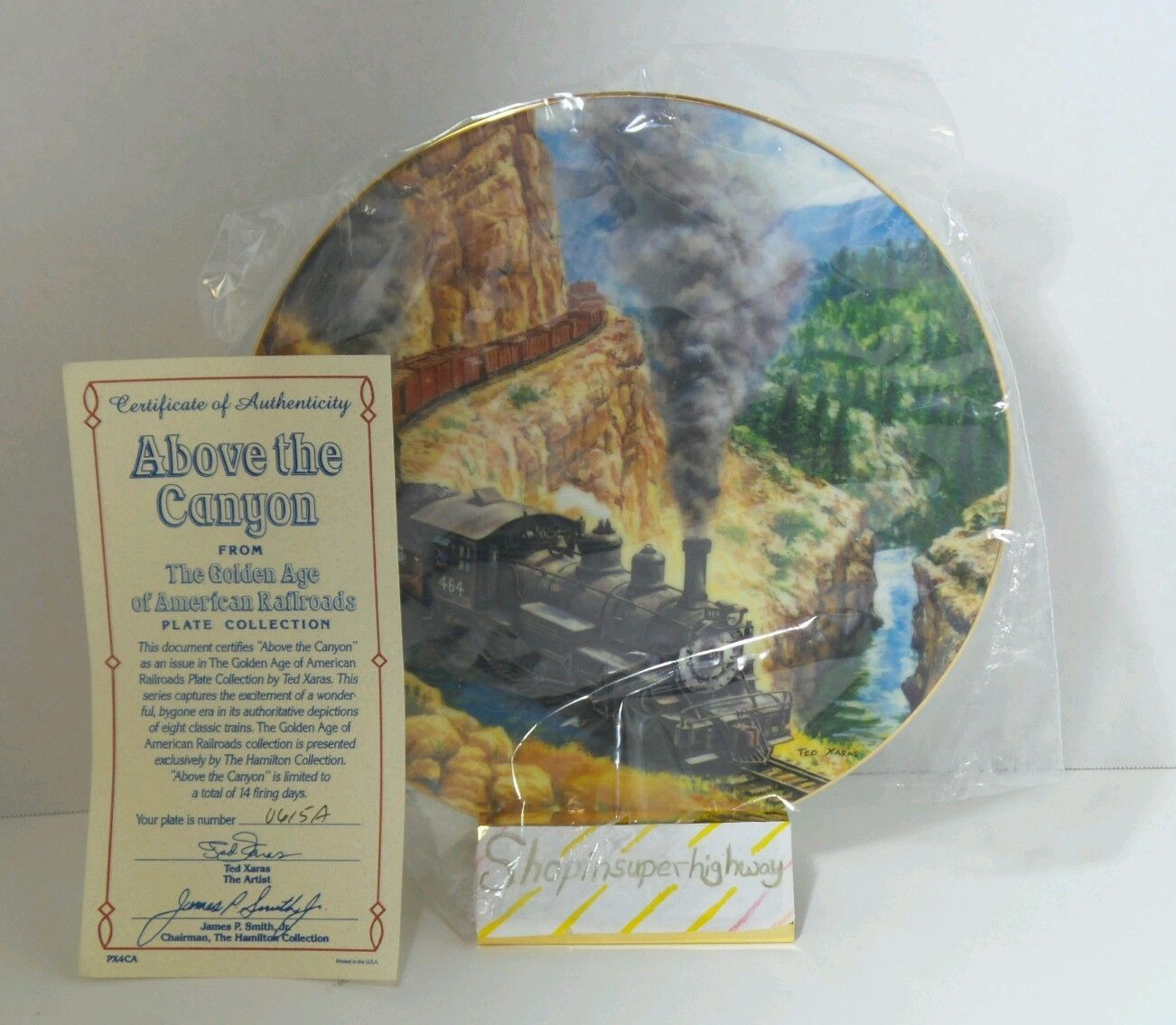 Authentic Above the Canyon Golden Age American Railroads Collectible Plate - $14.69