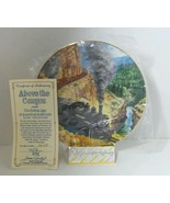 Authentic Above the Canyon Golden Age American Railroads Collectible Plate - $23.47