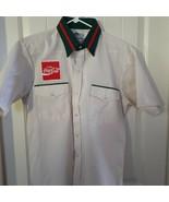 Vintage Coca Cola Short Sleeve Shirt 1960's Green Collar sz M Coke River... - $69.30