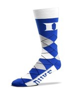 NCAA Duke Blue Devils Argyle Unisex Crew Cut Socks - One Size Fits Most - $11.95