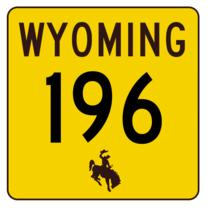 Wyoming Highway 196 Sticker R3455 Highway Sign - $1.45+