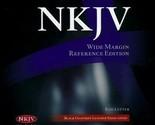 NKJV Wide-Margin Reference Bible---goatskin leather, black