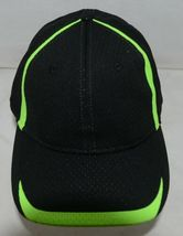 Augusta Sportswear Adult Black And Lime Green Sports Hat image 4