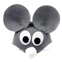 PANDA SUPERSTORE Set of 2 [Cartoon Mice] Kids Party Favors Funny Party Hats Kids