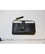 Fossil SL7218005 Keely Tab Card Case black white Leather mini ID NWT*^ - $27.22