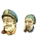 Vintage LEFTON'S Reg U.S Pat Off Men Head w/Pipe Figures Wall Hanging Decoration - $31.01