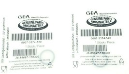 LOT OF 2 NEW GEA 0007-3374-520 O-RINGS J6-89697-170300