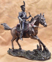 Young Polish uhlan on horse with lances sabres and pistols Polish light ... - $169.00