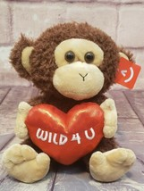 "Aurora World Val Sayings Wild for You Monkey 11"" Plush with Heart Stuffe... - $16.14"