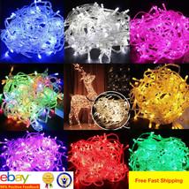 10M 100 LED Christmas Tree Fairy String Party Lights Lamp Xmas Waterproof - $8.18+