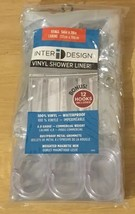 Interdesign Vinyl Shower Liner 4.8 Gauge 54x78 12 Hooks Included Clear - $18.00