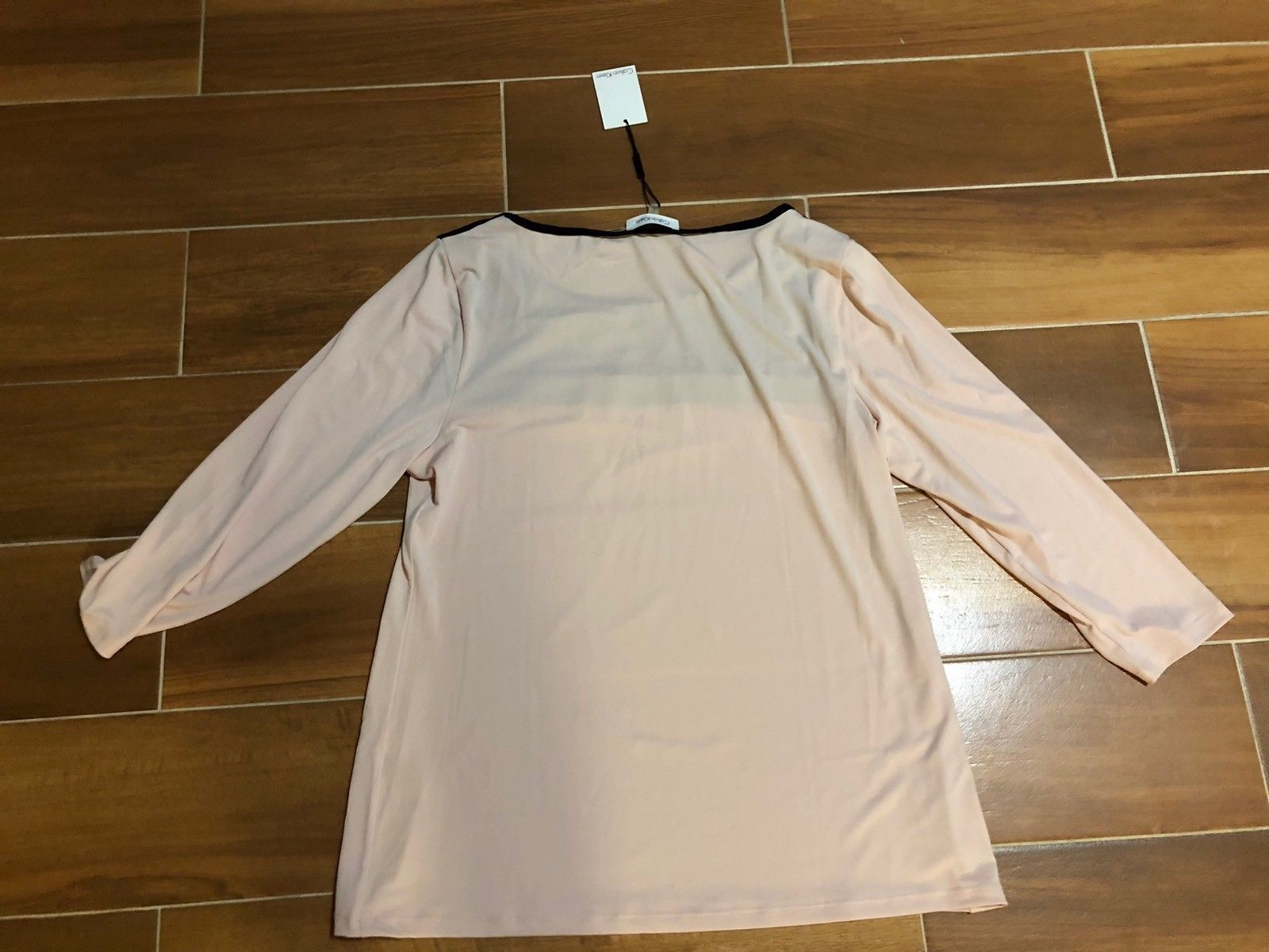 Calvin Klein Women's Top with Mesh Inset Size L