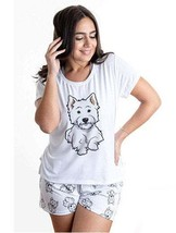 Dog Westhighland pajama set with shorts for women Westie - $30.00