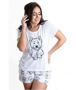 Dog Westhighland pajama set with shorts for women Westie - $30.00