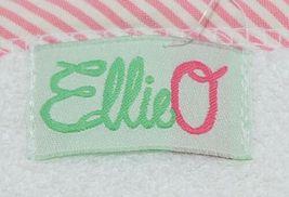 EllieO Seersucker Bib And Burp Cloth Set White With Pink Striped Trim image 6
