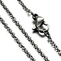 """1 Stainless Steel Cable Chain Oval Link Necklace 24"""" Jewelry Craft Supply - $7.25"""