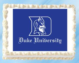 "Duke Blue Devils Edible Image Topper Cupcake Cake Frosting 1/4 Sheet 8.5 x 11"" - $11.75"