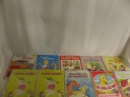 LOT OF 10 GOLDEN BOOKS 70'S FARMER JONES WHERE WILL ANIMALS GO SLEEPY BOOK - $27.88