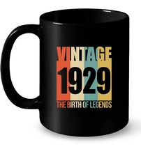 Retro Vintage 1929 89 yrs old Bday 89th Birthday Tee Gift Coffee Mug - $13.99+