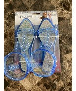 Disney Frozen 2 Elsa Shoes Girls Sz 9 10 S M Blue Jelly Sandals Costume ... - $19.79
