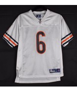 Reebok Jay Cutler Chicago Bears jersey NFL football white youth kids size L - $13.01