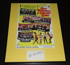 Mary Ann Mobley Signed Framed 16x20 Poster Display Get Yourself a Colleg... - $65.09