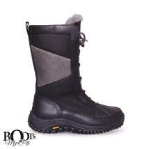 UGG MIXON BLACK TALL WATERPROOF LEATHER WOMEN'S  NEW BOOTS SIZE US 7 - $147.25