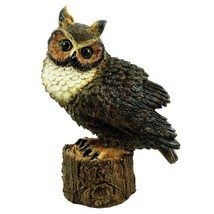 Michael Carr Designs 80053 Great Horned Owl Perched Outdoor Statue - $29.36