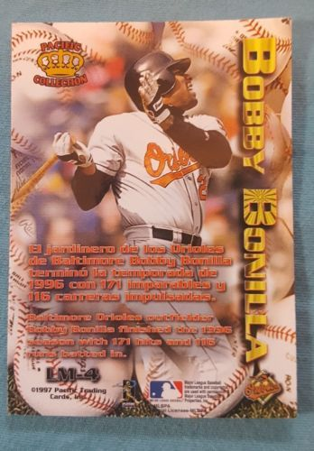 1997 Pacific Crown Collection Latinos of the Major Leagues #LM-4 Bobby Bonilla