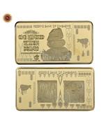 WR Zimbabwe 100 Trillion Dollars Gold Foil Plated Bullion Gold Bar Ingot... - €3,98 EUR