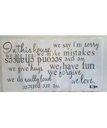 IN THIS HOUSE Rules Wall Decal Art Quote Removable DIY Stickers Home Pre... - $8.10