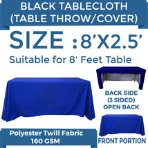 8ft. Full Color Blank Table Cover/Throws 3 Sided Tablecloth for Tradesho... - $44.64