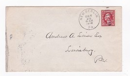 NEW BERLIN, PA OCTOBER 26 1912 ON 2C RED WASHINGTON - $2.98