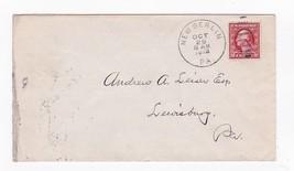 NEW BERLIN, PA OCTOBER 26 1912 ON 2C RED WASHINGTON - $2.98