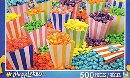 Colorful popcorn - Puzzlebug 500 Piece Jigsaw Puzzle - $9.95