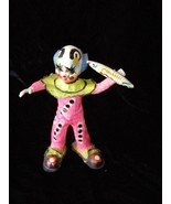 Circus Clown Figure Home Décor Brightly Colored Vintage - $40.00