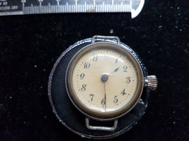 UNUSUAL ANTIQUE NAIL SET WIRE LUG TRENCH WATCH RUNS FOR YOU TO FIX DIAL - $140.29